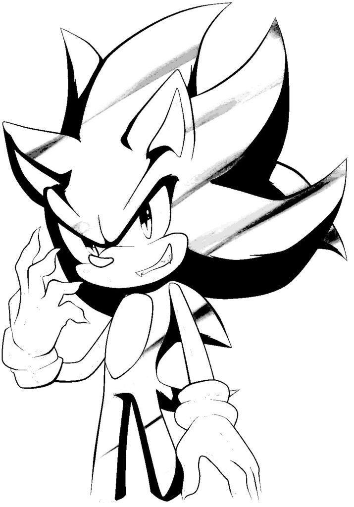 dibujos de dark sonic sonriendo para colorear - Dibujando un Poco
