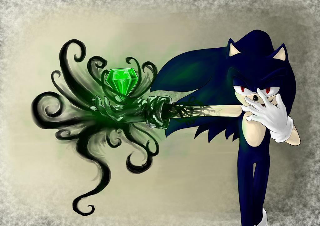 dibujos de dark sonic y las esmeraldas - Dibujando un Poco