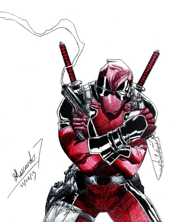 dibujos de deadpool 16 - Dibujando un Poco