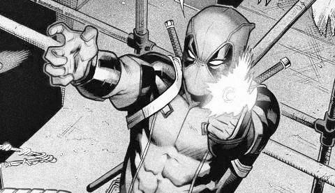dibujos de deadpool a blanco y negro contra spiderman - Dibujando un Poco