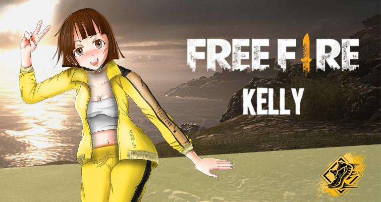 dibujos de free fire kelly - Dibujando un Poco