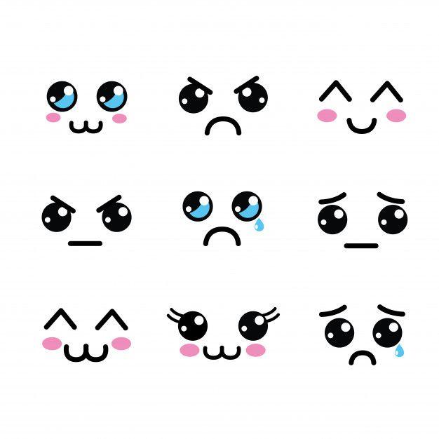 dibujos de ojos kawaii - Dibujando un Poco