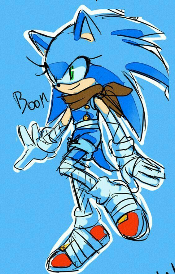 dibujos de sonic boom fan art - Dibujando un Poco