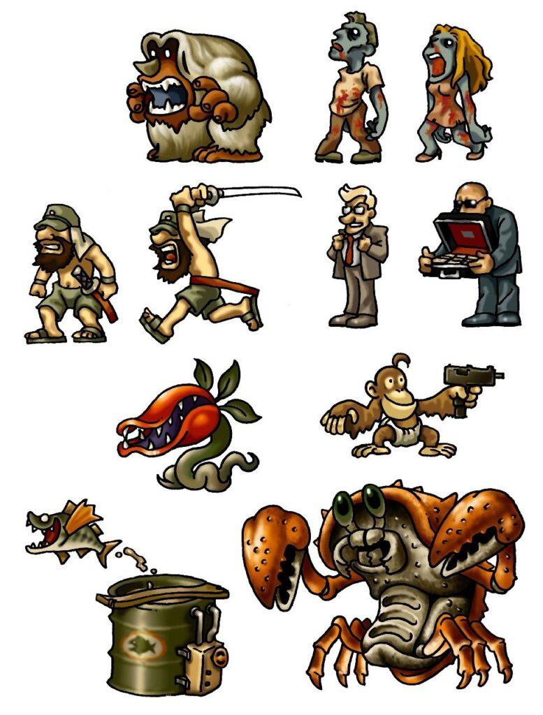 dibujos de videojuegos de metal slug - Dibujando un Poco