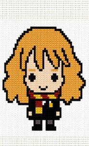 dibujos pixelados kawaii Hermione - Dibujando un Poco